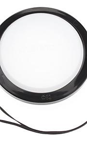 Mennon 82mm lente de la cámara Balance de blancos Tapa con correa de mano (Negro y Blanco)