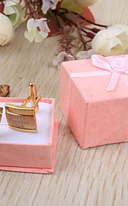 Marié Groom Cadeaux Pièce / Set Boutons de manchettes & Clips de cravate Luxueux Classique Mariage Célébration Anniversaire Business Inox