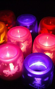 Electronic Flameless LED Candle Light (Random Color)