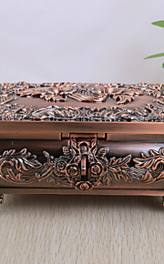 La boîte à bijoux de Rose de cru d'alliage de conception femmes