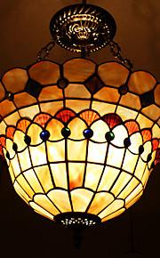 40w classica lampada a sospensione tiffany con la natura materiale delle coperture schermo integrato (catena regolabile)