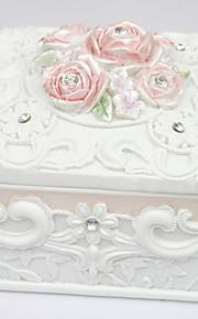 Beau style boîte à bijoux carrée Garden