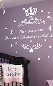 Once upon a Time Naam van de prinses Sticker van de Muur