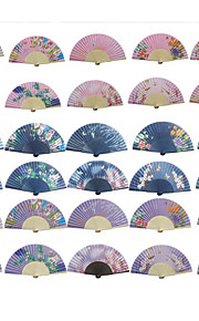 Pretty Hand Fan - Set of 4(Mixed Colors)