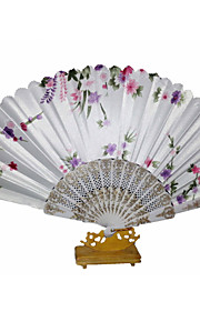Pretty Floral Waved Hand Fan (Set of 4)