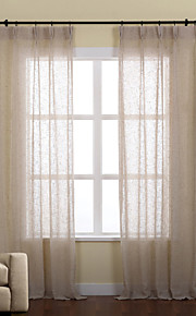 (Two Panels)Linen/Poly Solid Sheer