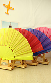 Solid Color Plastic Hand Fan - Set of 4(Mixed Colors)