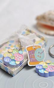 Multicolor Botton en forme d'anneau principal Faveur En Boîte