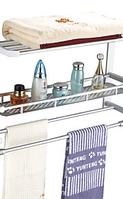 Aluminum Double-layer Multifunctional Folding Towel rack