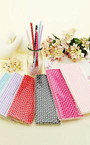 Belles Pokla Dot staws de papier - ensemble de 25 (plus de couleurs)