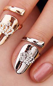 Frauenkronenförmigen Nagelfingerring (gelegentliche Farbe)