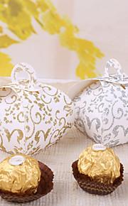 12 Pièce / Set Titulaire de Faveur Papier durci Boîtes à cadeaux Non personnalisé