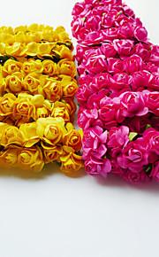 結婚式の装飾甘い人工バラ - 12のセット(もっと色)