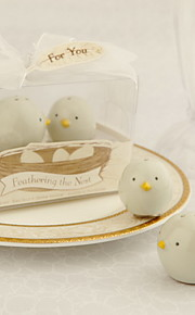 Ceramic Bird's Nest Salt And Pepper Shakers Wedding Favor