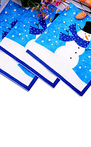 Christmas Party Tableware Napkins 100% virgin pulp Classic Theme/Fairytale Theme Non-personalised Blue