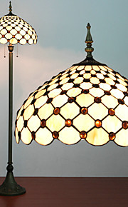 Perlen Dekoration Stehlampen, 2 Licht, Tiffany Glass Resin Malprozess