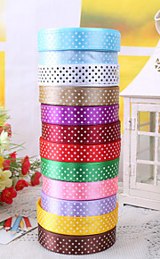 "3/4 ""Polka Dot Ribbon decorazione del regalo Package (più colori)"