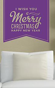 Holiday Hyvää Joulua ja Onnellista Uutta Vuotta Wall Tarrat
