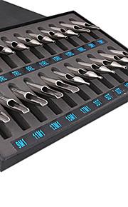 dragonhawk® 22 stuks maten lot 304 roestvrij staal tattoo nozzle tips