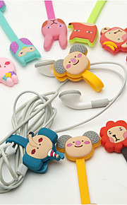 Cartoon Buckle Type Rubber Bobbin Winder(3PCS Different Style but Random Color)