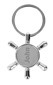 Personalized Engraved Gift Creative Compass Shaped Keychain