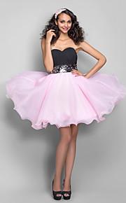 Dress - Multi-color Plus Sizes A-line/Princess Sweetheart Short/Mini Organza/Chiffon