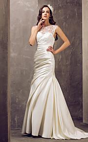 Lanting Bride® Trompeta / Sirena Tallas pequeñas / Tallas Grandes Vestido de Boda - Elegante y Lujoso / Glamouroso Larga JoyaEncaje /