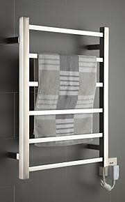 60W speil børstet veggfeste firkantet rør håndkle warmmer tørkestativ
