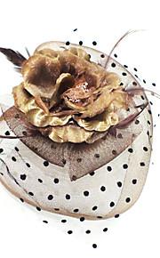 Femme Plume / Tissu Casque-Décontracté Coiffure