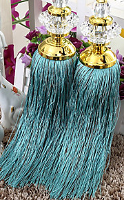 Blue Crystal Lotus Tassel (One Piece)