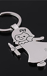 Personalized Engraved Gift Girl Shaped Keychain