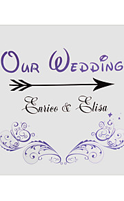 Personalized Vintage Purple Floral Pattern Wedding Indicator