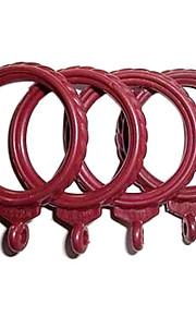 Resina sólida Aceno atado Clipe Ring (3,3 centímetros de diâmetro)