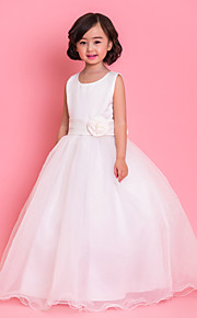 Formal Evening/Wedding Party/Vacation Dress - Ivory/Sky Blue/Candy Pink A-line Jewel Ankle-length Satin/Tulle