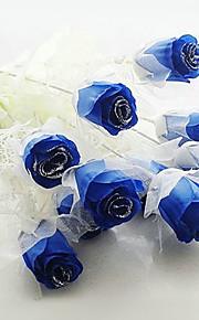 décoration de mariage sombres fleurs artificielles bleues - ensemble de 12 fleurs
