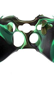 Wireless Controller siliconen case voor de Xbox360 (Groen)