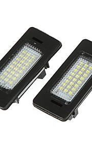 Par Fejl Gratis 24 3528 LED License Plate Lampe til BMW E39 E60 E61 E90 5-serie