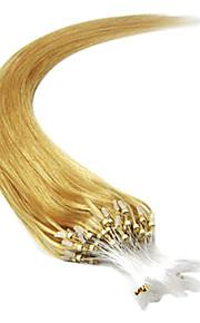 20inch 1pcs loops micro ringen kralen getipt straight hair extensions meer licht kleuren 100s / pake 0.5g / s