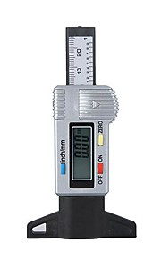 Digital LCD Tyre slidbanen Dybdemåler 0-25.4mm