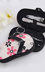 4 Pieces Floral Flip Flop Purse Manicure Kit Wedding Favor