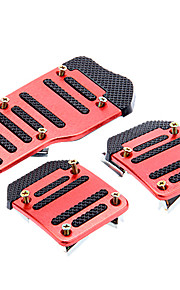 Sports XB-373 3Pcs Car Anti-Slip Brake Padel Pad Cover Metal Plastic
