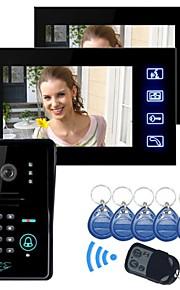 """Raak Toets 7 """"LCD video deurtelefoon intercom systeem Wth IR Fototoestel & Code Toetsenbord 1V2"""