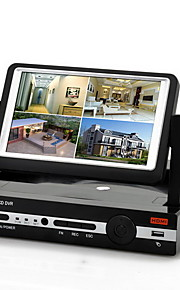 Nye Ankomst H.264 4 Kanal D1 DVR System med 7 tommer LCD Skærm