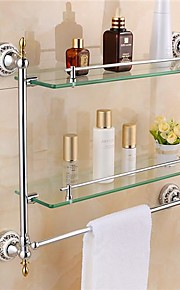 Moderne Double-layer Glas Opbevaring Shelf