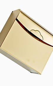 Gold-plating Thick Stainless Steel Waterproof  Toilet Tissue Box