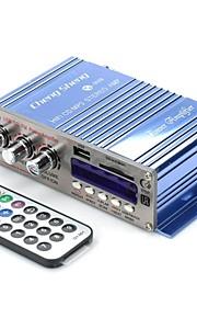 AT9008 DC12V 80W 2-kanaals Bass / Treble Car HiFi versterker met USB-SD FM MP3