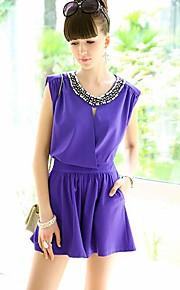 Women's Casual Pants , Spandex/Polyester Inelastic Black/Purple