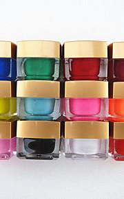12st gemengde kleur pure kleur uv builder gel uv kleur gel polish set nail art decoratie (8 ml)