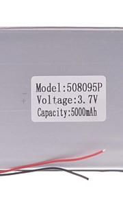 "Universele vervanging van 3.7V 5000mAh Li-polymer batterij voor 7 ~ 10 ""Macbook Samsung Acer Sony Apple Tablet PC (05 * 80 * 95)"