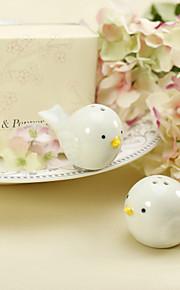 keramisk fuglerede salt & pepperbøsse bryllup favør (sett med 2)